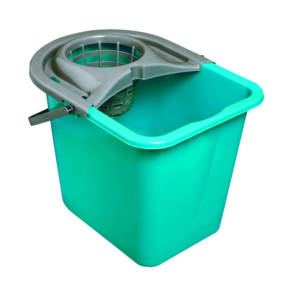 Ведро для уборки York, с насадкой для отжима швабры, цвет: мультиколор, 14 литров. 70017001Пластиковое прямоугольное ведро York на 14 литров с отжимом. Имеет устойчивое дно и выемку для переливания воды. Также на дне ведра есть специальная выемка, которая помогает удерживать ведро при наклоне для слива воды. На отжиме расположена ручка.