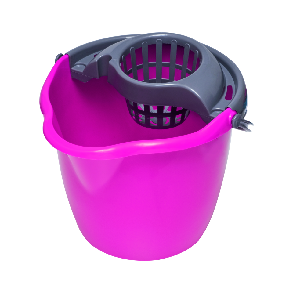 Ведро для уборки York, с насадкой для отжима швабры, цвет: мультиколор, 12 л. 70057005Устойчивое круглое ведро York, изготовленное из прочного пластика, порадует практичных хозяек. Оно не опрокидывается и прослужит долго время. Ведро оснащено специально насадкой, которая обеспечивает интенсивный отжим лепестковой швабры и имеет носик для слива воды.Объем: 12 л.