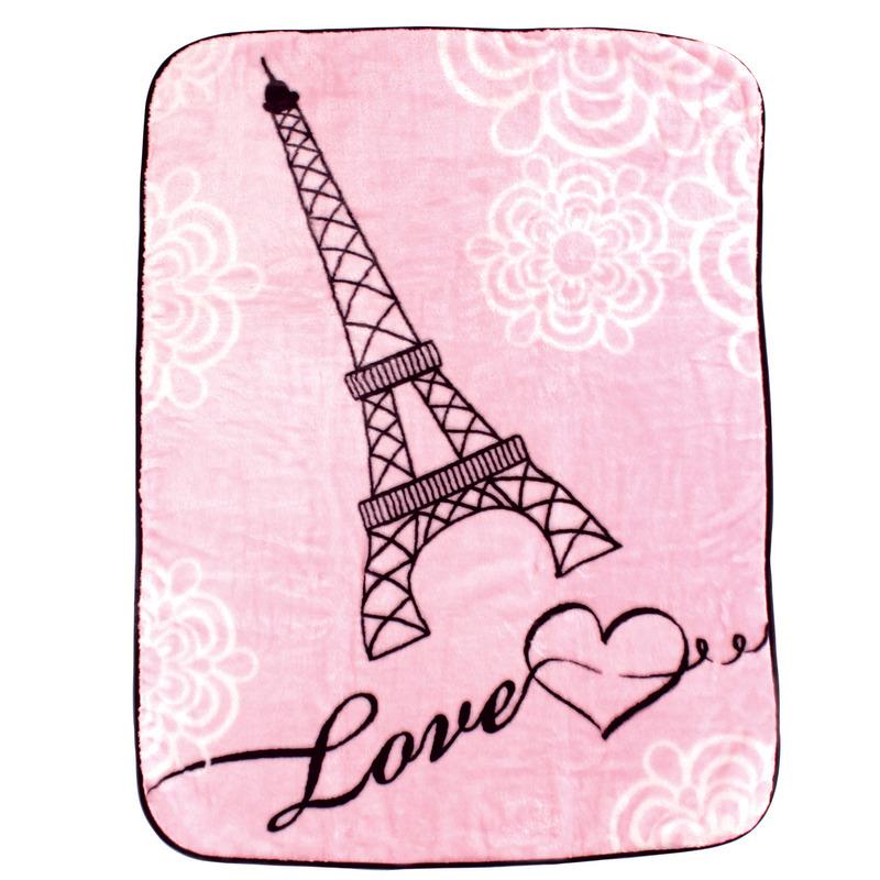 Luvable Friends Плед Париж, 76 х 101 см, цвет: розовый плед hongda уют 2x2 2m white 877312