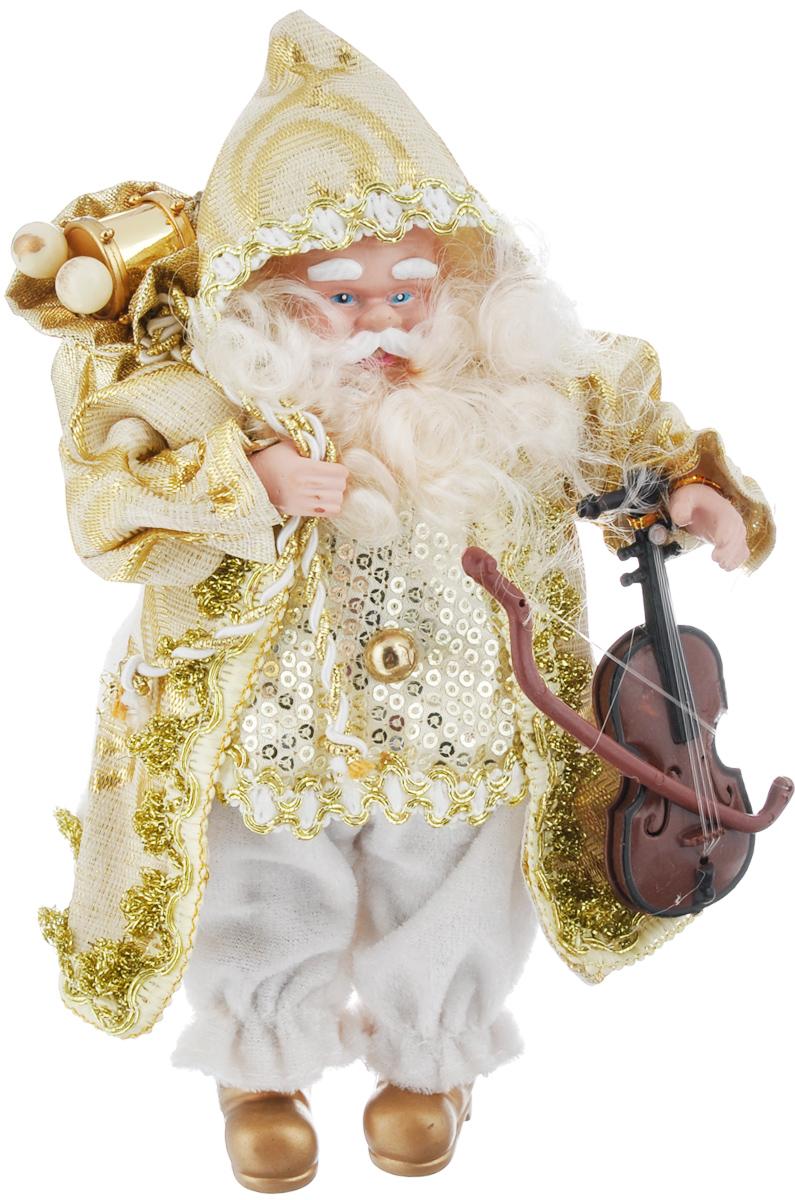 Кукла коллекционная Русские Подарки Санта Клаус, цвет: белый, золотистый, 18 см. 74840 ваза русские подарки винтаж высота 31 см 123710