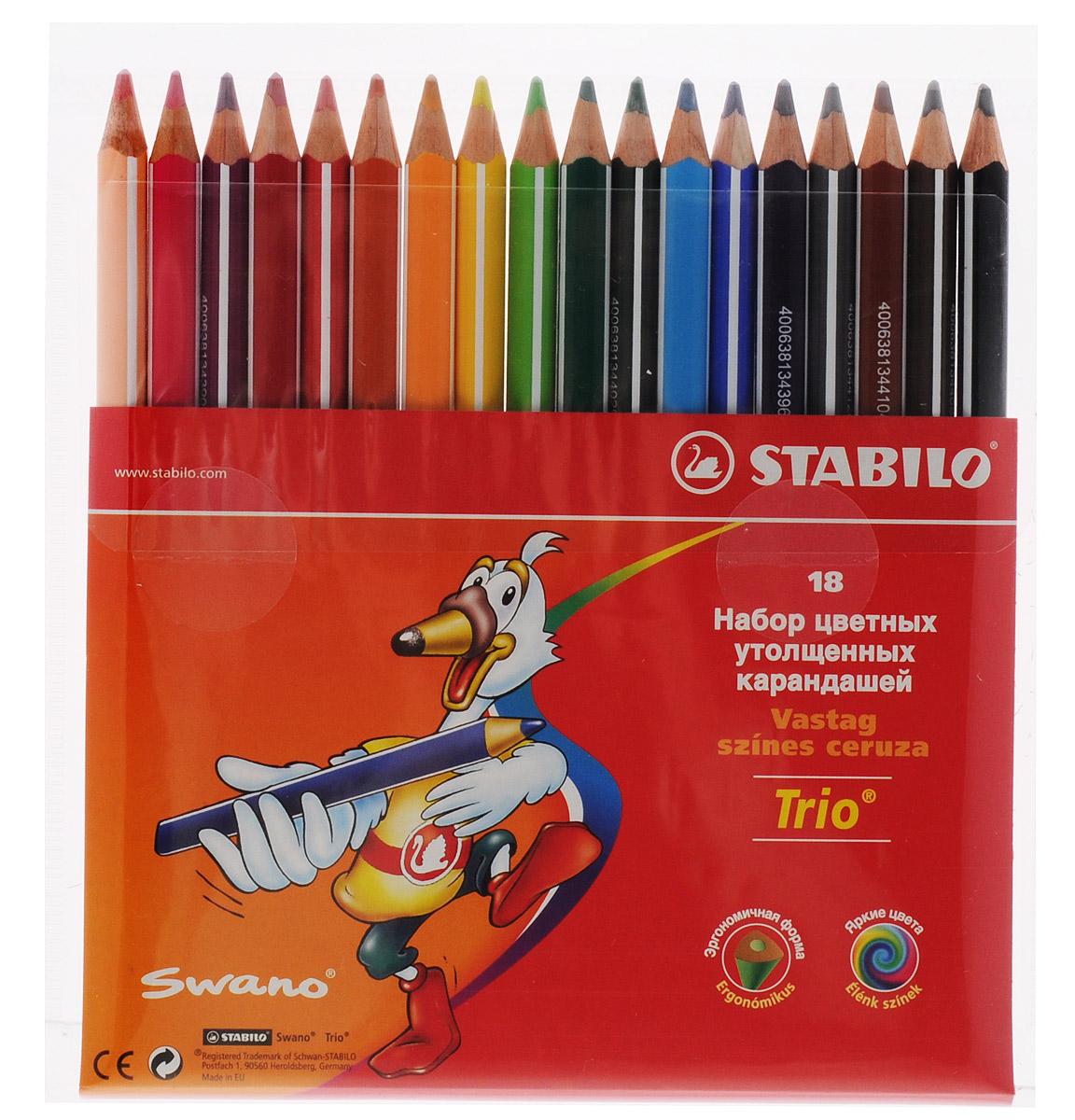 Stabilo Цветные карандаши Trio 18 цветов -  Карандаши