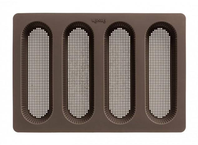 Форма для выпечки мини-багетов(цвет :коричневый) 0203100М10M0170203100М10M017Материал: платиновый силикон.