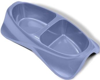 Миска для животных VanNess, двойная, цвет: голубой, 1,48 л1031Двойная миска VanNess - это функциональный аксессуар для собак, кошек и грызунов. Изделие выполнено из высококачественного цветного пластика. В миску можно положить два разных блюда - в каждое отделение. Миска легко моется. Ваш любимец будет доволен!Объем одной емкости: 740 мл.