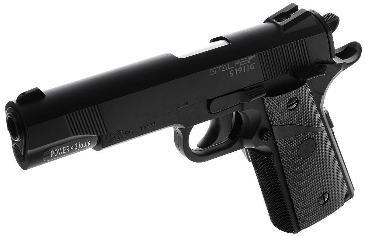 """Пистолет пневматический Stalker """"S1911G"""", цвет: черный"""