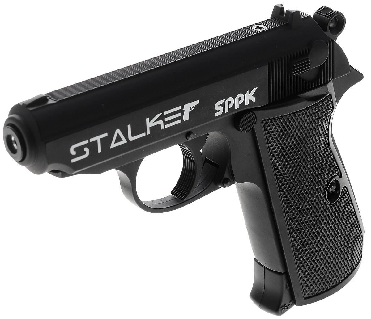 Пистолет пневматический Stalker SPPK, цвет: черный пневматический пистолет glock в минске