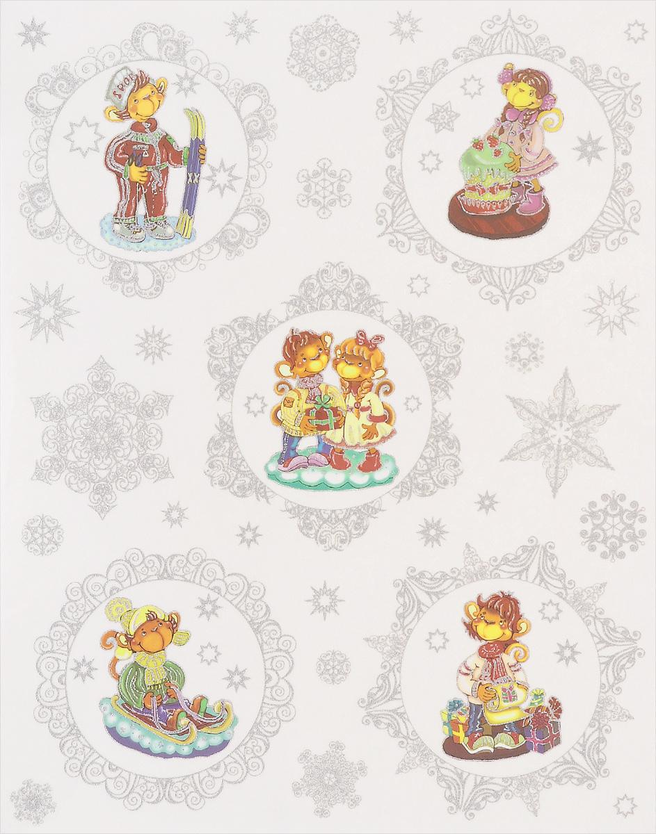 Новогоднее оконное украшение Феникс-презент Обезьянки новогоднее оконное украшение феникс презент обезьянки