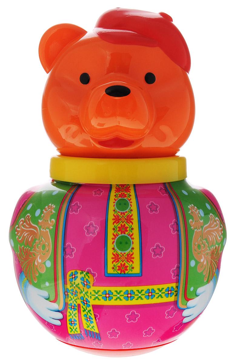 Stellar Неваляшка Бурый медведь Потапыч цвет малиновый зеленый развивающая игрушка stellar веселый молоточек цвет малиновый розовый желтый