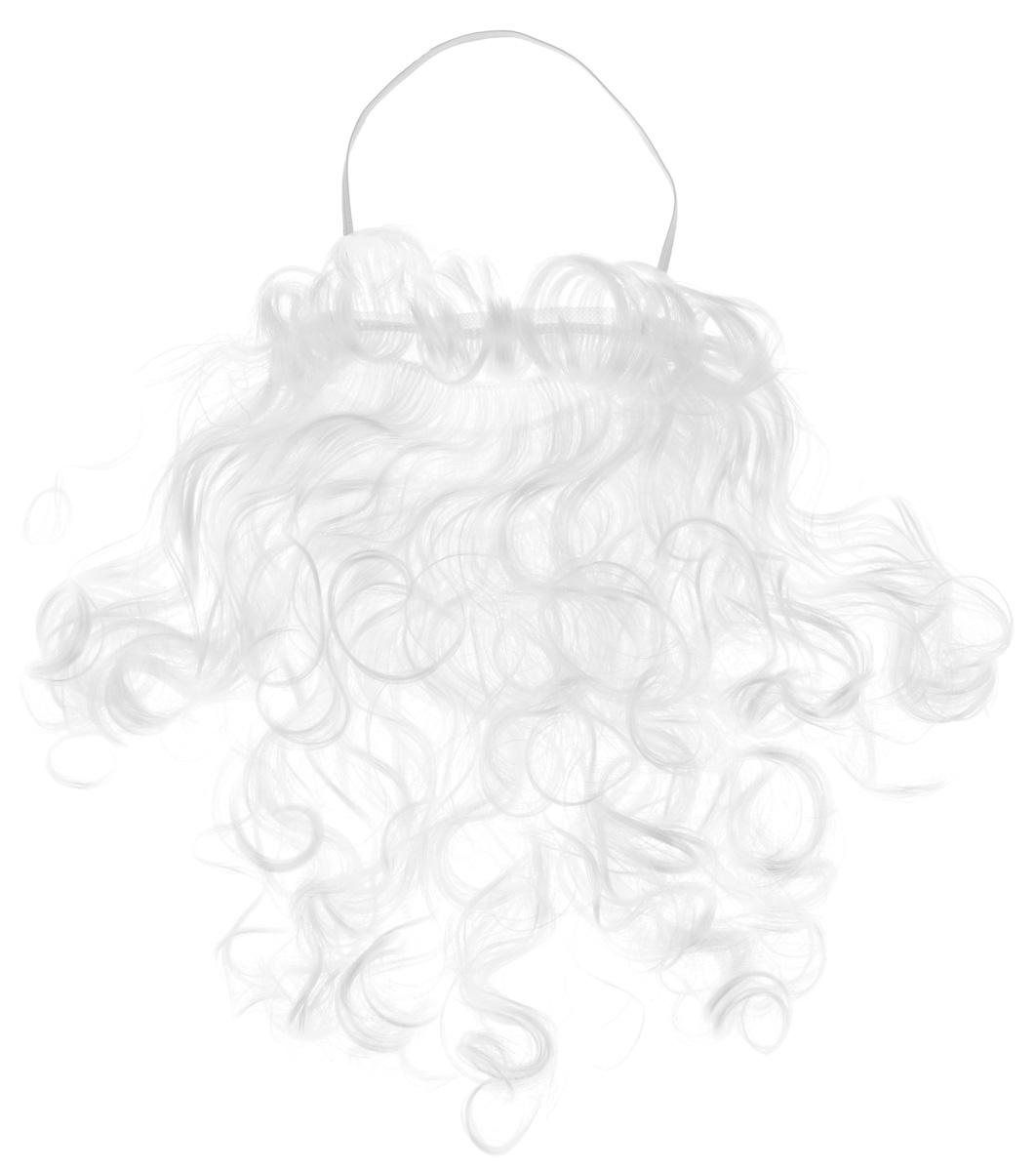 Карнавальная борода Sima-land Дед Мороз, длина 26 см новогодняя декоративная фигурка sima land дед мороз анимированная высота 28 см 827820