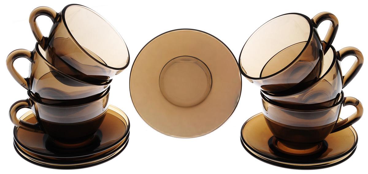 Набор чайный Luminarc Simply Eclipse, 12 предметовJ1261Набор чайный Luminarc Simply Eclipse изготовлен из высококачественного стекла.Набор состоит из шести чашек и шести блюдец.Элегантный дизайн и совершенные формы предметов набора привлекут к себевнимание и украсят интерьер вашей кухни. Набор чайный Luminarc Simply Eclipse идеально подойдет для сервировки стола истанетотличным подарком к любому празднику.Объем чашек: 200 мл. Диаметр чашек по верхнему краю: 9 см. Высота чашек: 6,5 см. Диаметр блюдец: 13 см.