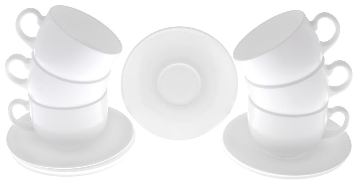 """Чайный набор Luminarc """"Diwali"""" изготовлен из высококачественного стекла. Набор состоит из шести чашек и шести блюдец.  Элегантный дизайн и совершенные формы предметов набора привлекут к себе внимание и украсят интерьер вашей кухни. Чайный набор Luminarc """"Diwali"""" идеально подойдет для сервировки стола и станет отличным подарком к любому празднику.  Объем чашек: 200 мл. Диаметр чашек по верхнему краю: 8,3 см. Высота чашек: 6 см. Диаметр блюдец: 14 см."""