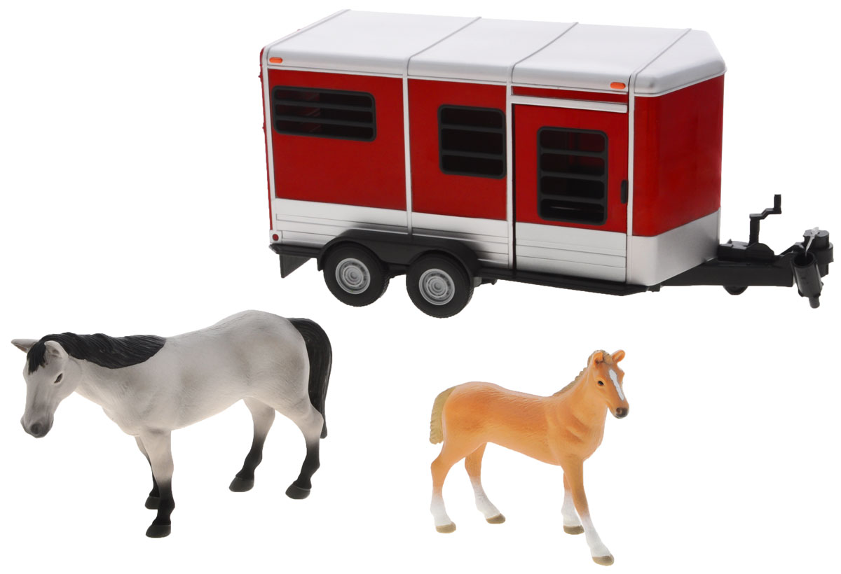 Tomy Игровой набор Horse Trailer With Horses tomy farm приключения трактора джонни и лошади на ферме