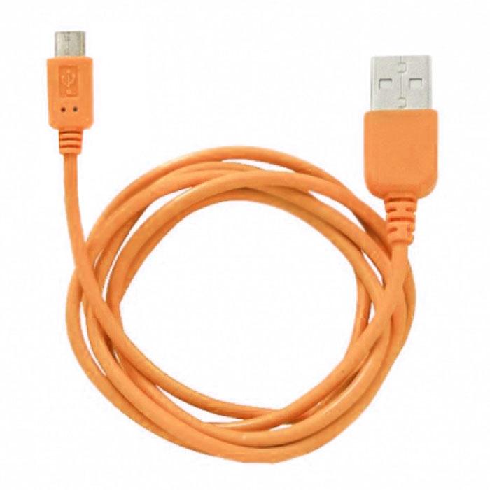 Human Friends Rainbow M, Orange micro-USB кабельRainbow M OrangeHuman Friends Rainbow - кабель для соединения micro USB-устройств c USB-портом. Он может использоваться для передачи данных, зарядки аккумулятора и адаптирован для работы со всеми операционными системами. Главное достоинство Rainbow - в его внешнем виде. Он выгодно отличается от привычных и скучных расцветок стандартных кабелей. Кабель упакован в очень удобный и компактный пакет-чехол с многоразовой системой открывания-закрывания.