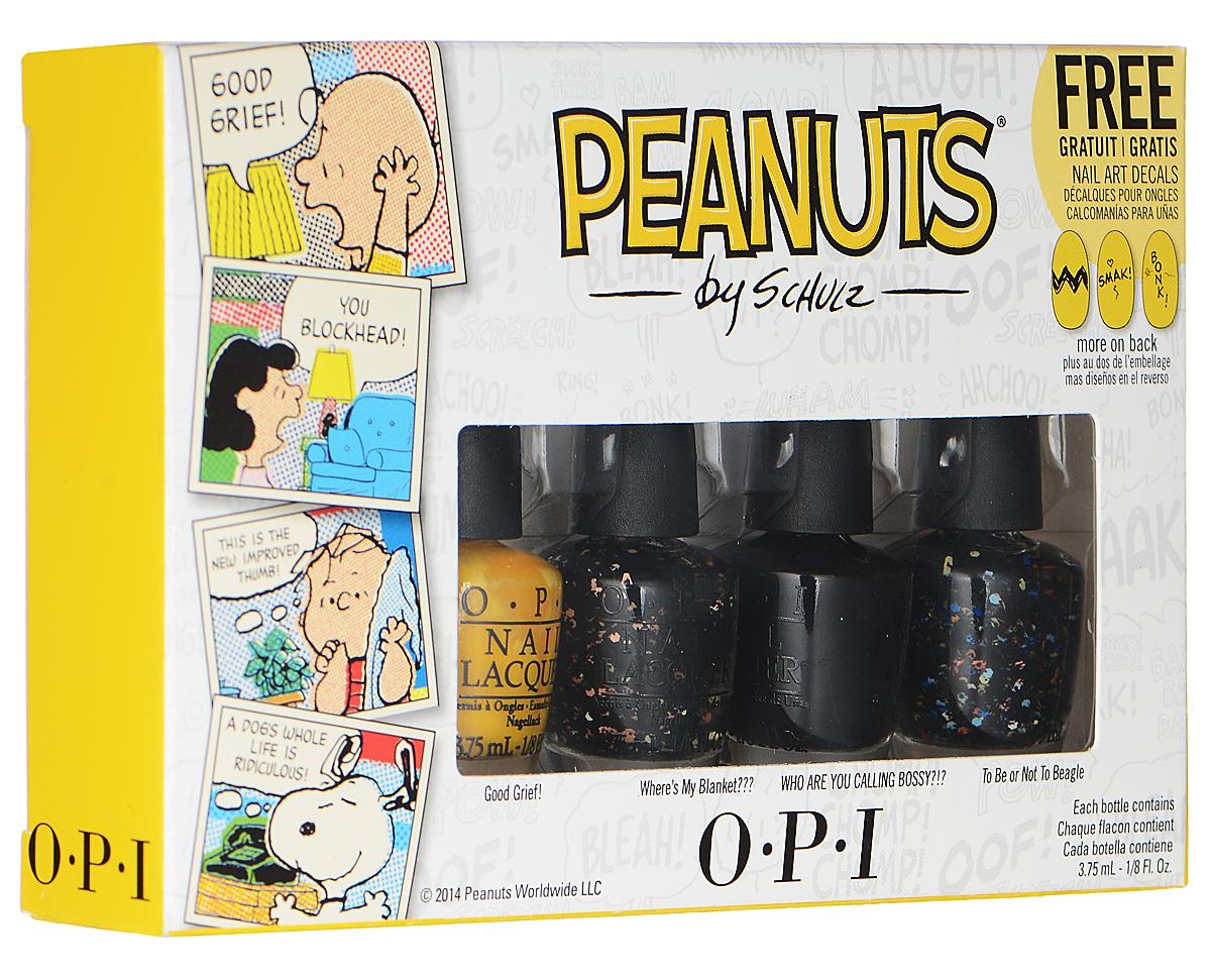 OPI Набор мини-лаков для ногтей Peanuts Halloween'14, 4 х 3,75 мл opi мини лаки softshades by opi 4 3 75 мл nlt65 nlt68