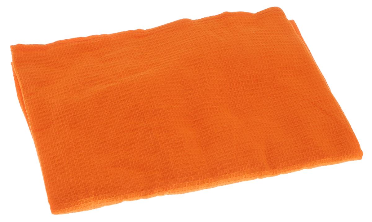 Накидка для бани и сауны Банные штучки, женская, цвет: оранжевый32058_оранжевыйВафельная накидка Банные штучки, изготовленная из 100% натурального хлопка, станет незаменимым аксессуаром в бане или сауне. Изделие снабжено резинкой и застежкой-липучкой. Имеет универсальный размер. Такая накидка - очень функциональная вещь, ее также можно использовать как полотенце или коврик на скамейку.Размер: 36-60.