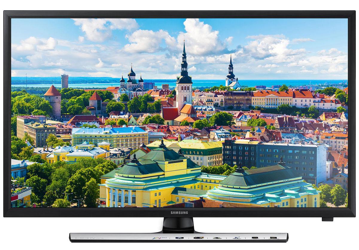 Samsung UE28J4100AKX телевизор28J4100Испытайте новые ощущения и приобщите к ним своих близких. Тонкий LED телевизор серии J4100 разработан для того, чтобы зрители испытали невиданные до сих пор визуальные ощущения. Сегментированная технология затемнения изображения позволяет улучшить проработку деталей в темных и светлых участках экрана, что добавляет глубины и драматичности происходящему на экране. Повышение контрастности изображения позволяет максимально улучшить качество картинки на экране и получить больше удовольствия от просмотра. Ощутите новую реальность в формате Full HD.Великолепное изображение с яркими живыми красками Использование новейшей технологии расширения диапазона цветопередачи Wide Color Enhancer Plus позволяет существенно улучшить качество изображения. Обратите внимание на богатство цветовой палитры, отображаемой на экране благодаря технологии Wide Color Enhancer Plus. HDMI для просмотра мультимедийного контента Разъемы HDMI превращают телевизор в главный элемент вашего домашнего центра развлечений. Преимущество HDMI в том, что по одному кабелю в телевизор можно одновременно передавать сигнал видео и звука высочайшего качества с любого устройства, поддерживающего этот интерфейс. Просмотр фильмов с USB-накопителя Благодаря функции ConnectShare Movie, вы можете просто вставить ваш USB накопитель или жесткий диск в USB разъем телевизора, чтобы записанные на носителе фильмы, фото или музыка начали воспроизводиться на экране телевизора.