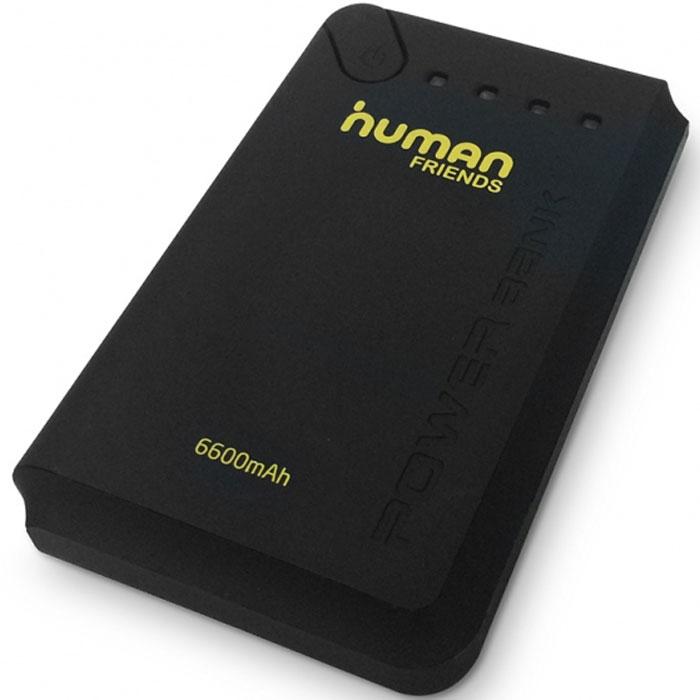 Human Friends Book универсальное зарядное устройствоBookСовременные мобильные телефоны и планшеты способны практически полностью заменить персональный компьютер. Однако остается одно неудобство - в самый важный моменты может закончиться батарея. Human Friends Bookрешает эту проблему. Небольшое и легкое устройство способно 6 раз зарядить полностью разряженный аккумулятор мобильного телефона.Внешний аккумулятор Human Friends Book совместим со всеми марками мобильных устройств, достаточно его подключить при помощи обычного зарядного кабеля. Мощная литий-ионная батарея самого Book выдержит не менее 500 циклов зарядки-разрядки без снижения емкости. Важным преимуществом данной модели является наличие двух USB-портов, с выходом на 1А и 2А, что позволяет одновременно заряжать два устройства, при этом гарантируется быстрая и качественная зарядка даже для современных планшетов. В качестве приятного дополнения Human Friends Bookснабжен световой индикацией уровня батареи и фонариком.