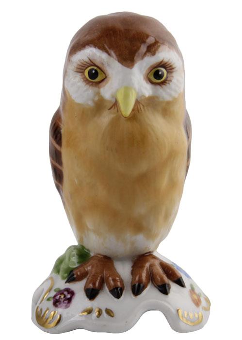 Статуэтка Сова в стиле немецкого фарфора 18-го века из серии The Curio Cabinet Owls Collection. Фарфор, деколь, роспись. The Franklin Mint, США, конец XX века купить больное платье в стиле 18 19 века наташа ростова