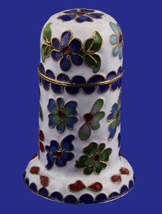 Шкатулка Цветущий луг в восточном стиле. Металл, клуазоне. Китай, вторая половина XX века