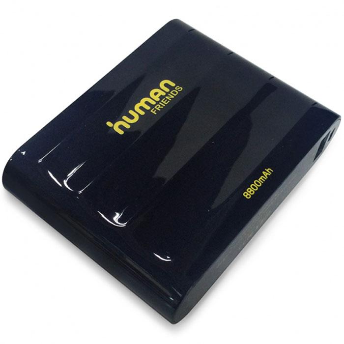 Human Friends Flagman универсальное зарядное устройствоFlagmanСовременные мобильные телефоны и планшеты способны практически полностью заменить персональный компьютер. Однако остается одно неудобство - в самый важный моменты может закончиться батарея. Human Friends Flagman решает эту проблему. Небольшое и легкое устройство способно 9 раз зарядить полностью разряженный аккумулятор мобильного телефона.Внешний аккумулятор Human Friends Flagman совместим со всеми марками мобильных устройств, достаточно его подключить при помощи обычного зарядного кабеля. Мощная литий-ионная батарея самого Flagman выдержит не менее 500 циклов зарядки-разрядки без снижения емкости. Важным преимуществом данной модели является наличие двух USB-портов, с выходом на 1А и 2А, что позволяет одновременно заряжать два устройства, при этом гарантируется быстрая и качественная зарядка даже для современных планшетов. В качестве приятного дополнения Human Friends Flagman снабжен световой индикацией уровня батареи.
