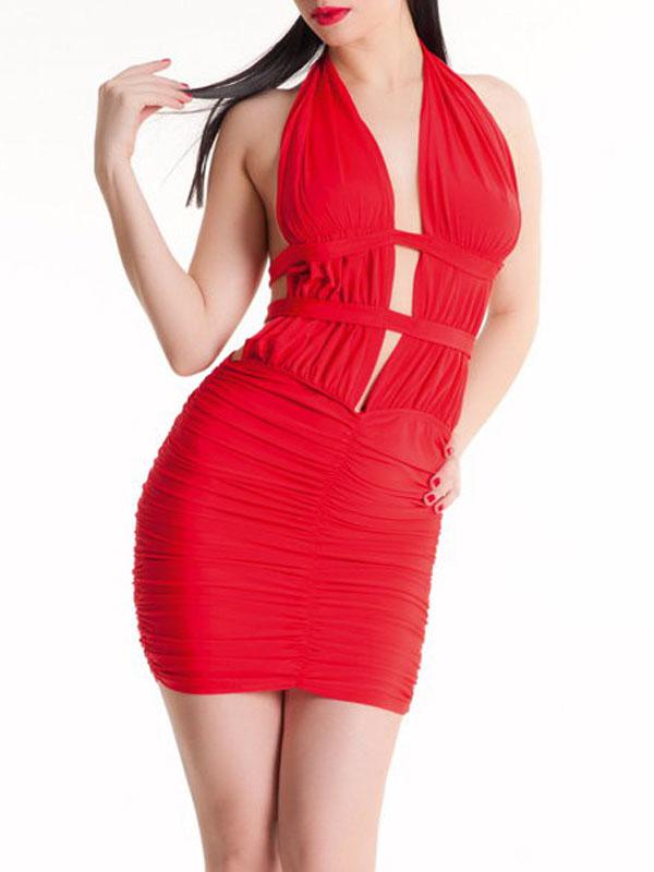 Платье гоу-гоу Erolanta Lingerie Collection, цвет: красный. 953002. Размер S/L (42/46)