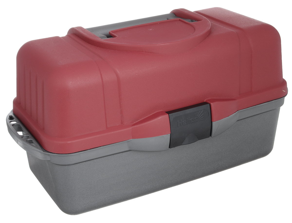Ящик рыболова Helios, трехполочный, цвет: красный, серый44689Ящик рыболова Helios изготовлен из ударопрочного полипропилена. Удобный и вместительный ящик с тремя выдвижными полками для различной рыболовной оснастки: поплавков, приманок, крючков и другой полезной мелочи. Количество секций варьируется от 24 до 34. На дно ящика можно положить 1-3 спиннинговых катушек. Ящик закрывается на замок-защелку, оснащен удобной ручкой для переноски.