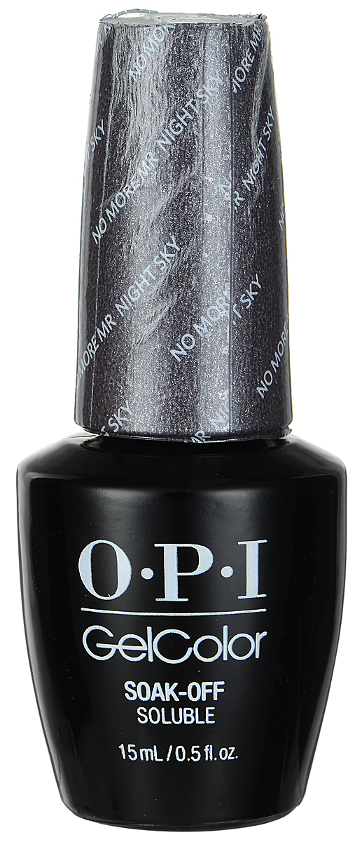 OPI Гель-лак GelColor, тон No More Mr. Night sky, 15 мл opi gelcolor гель лак i sea you wear opi gca73