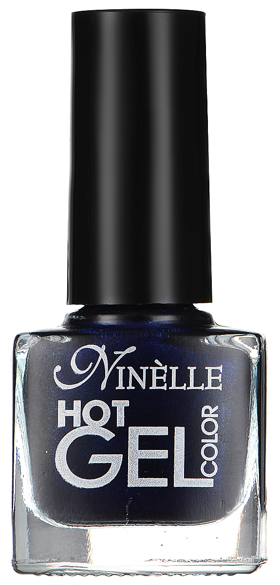 """Ninelle Гель-лак для ногтей """"Hot Gel Color"""", тон G11 темно-синий, 6 мл"""