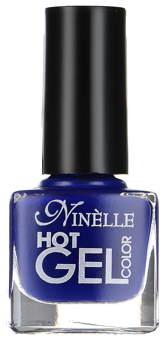 """Ninelle Гель-лак для ногтей """"Hot Gel Color"""", тон G10 синий, 6 мл"""