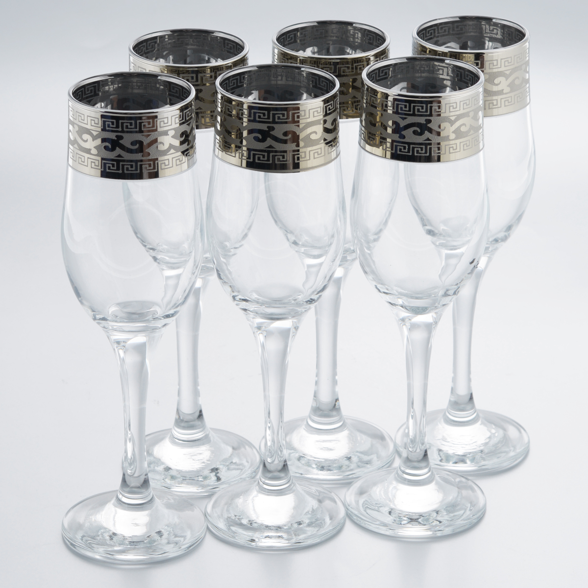 Набор бокалов Гусь-Хрустальный Версаче, 200 мл, 6 шт набор бокалов для бренди гусь хрустальный версаче 400 мл 6 шт