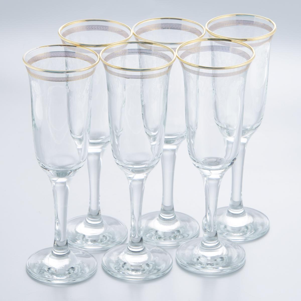 Набор бокалов Гусь-Хрустальный Каскад, 210 мл, 6 штTL40-883Набор Гусь-Хрустальный Каскад состоит из 6 бокалов на длинных ножках, изготовленных из высококачественного натрий-кальций-силикатного стекла. Изделия оформлены красивым зеркальным покрытием и прозрачным орнаментом. Такой набор прекрасно дополнит праздничный стол и станет желанным подарком в любом доме. Разрешается мыть в посудомоечной машине. Диаметр бокала (по верхнему краю): 6,8 см. Высота бокала: 22 см. Диаметр основания бокала: 7 см.