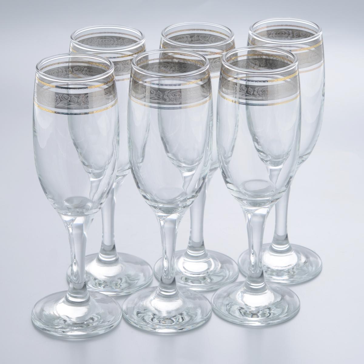 Набор бокалов Гусь-Хрустальный Первоцвет, 190 мл, 6 шт набор бокалов для бренди гусь хрустальный версаче 400 мл 6 шт