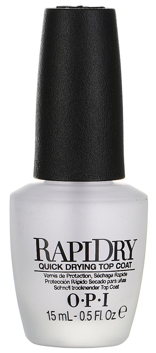 OPI Верхнее покрытие для ногтей RapiDry, быстросохнущее, 15 мл opi покрытие верхнее быстрая сушка rapidry top coat 15 мл