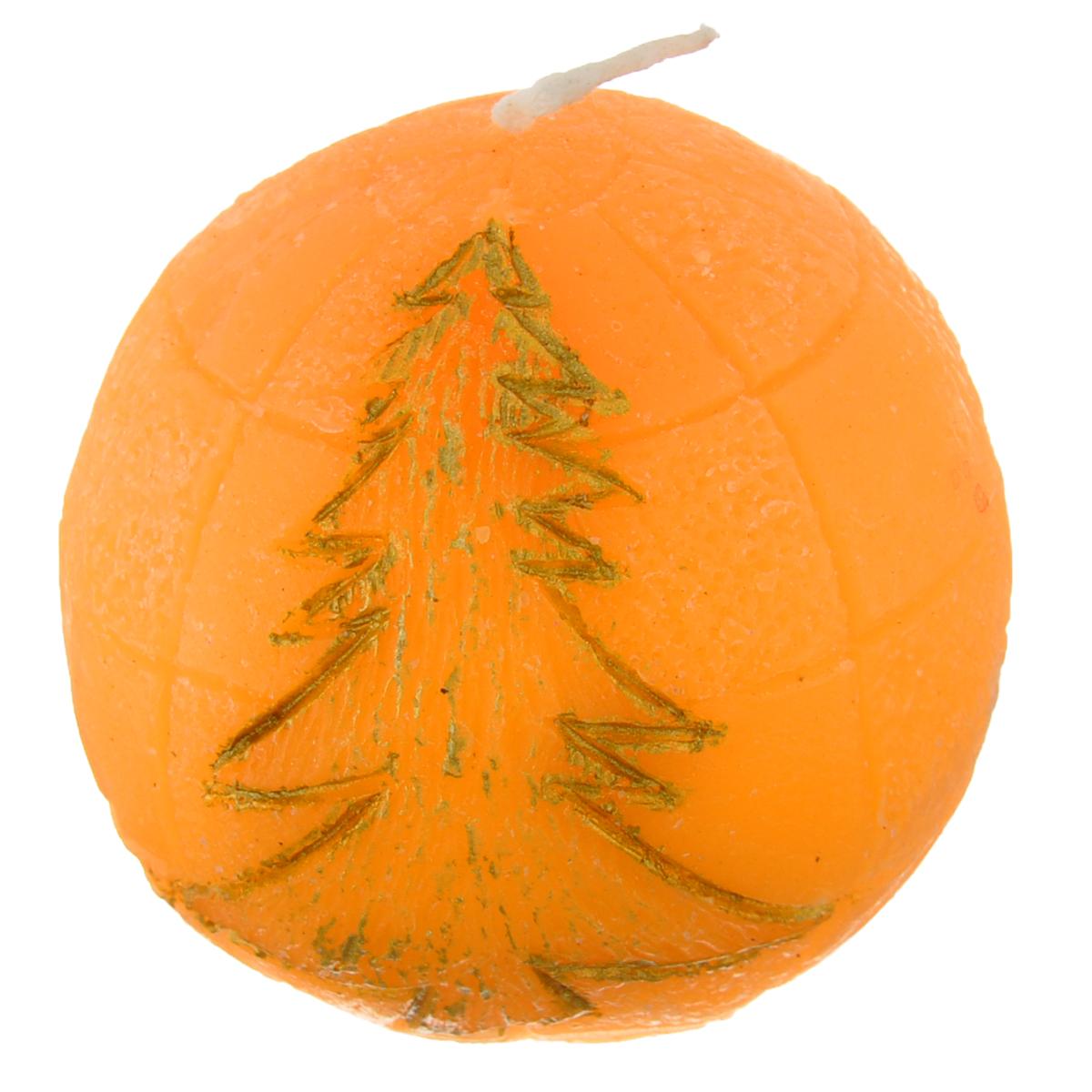 Свеча декоративная Lunten Ranta Подарок, цвет: оранжевый, диаметр 5 см очки lunten ranta диадема 66151