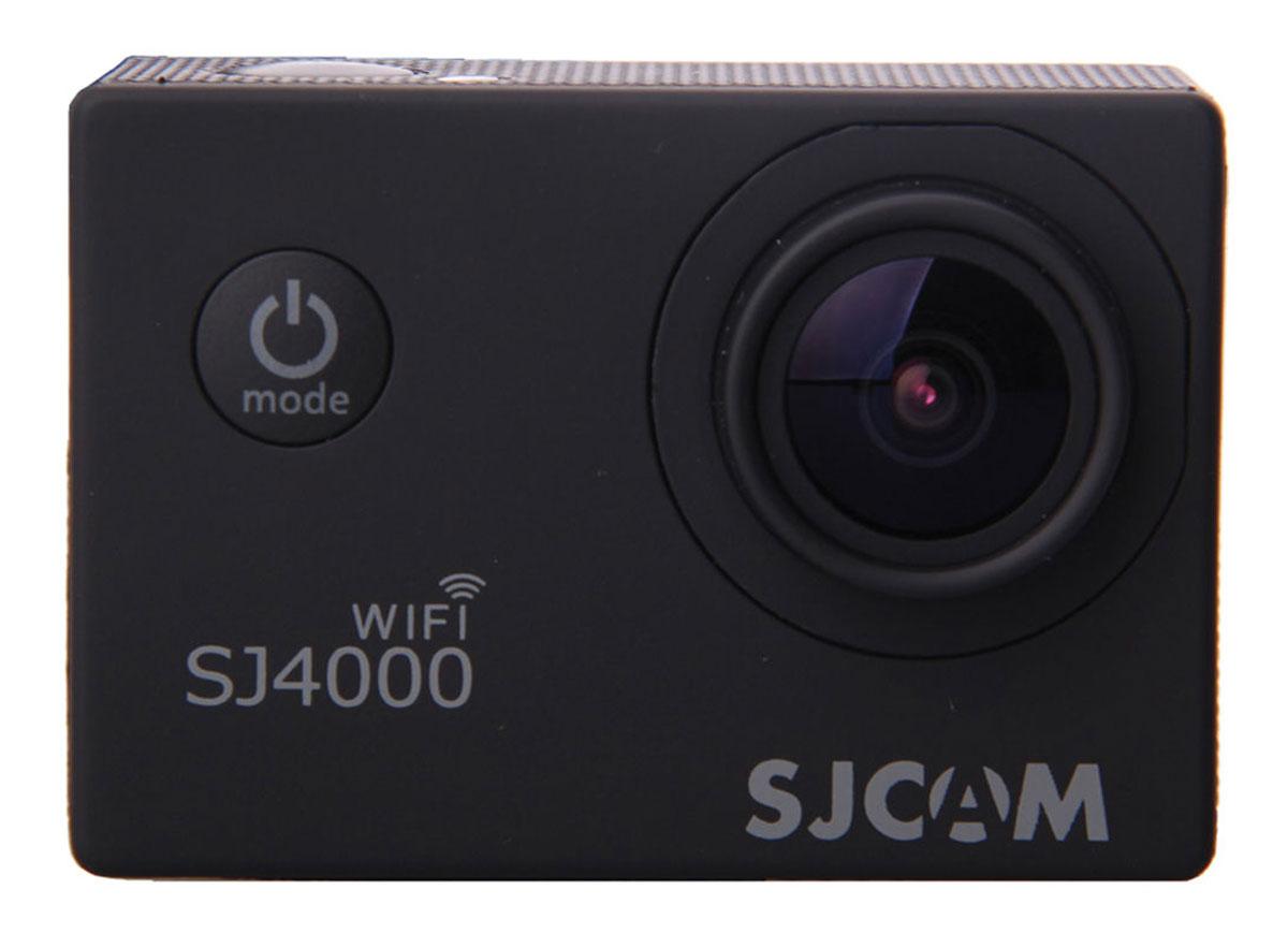 SJCAM SJ4000 Wi-Fi, Black экшн-камера00000044682SJCAM SJ4000 Wi-Fi - это недорогой и качественный аналог GoPro. С ее помощью можно снимать экстремальные события, закрепив камеру в удобном месте. Наличие модуля Wi-Fi позволит управлять съёмкой со смартфона. Вы также можете делать впечатляющие съёмки под водой на глубине до 30 метров благодаря водонепроницаемому боксу в комплекте.Камера оснащена специальным Wi-Fi модулем, который действует на расстоянии 15 метров.Он позволяет транслировать видео в прямом эфире на экран Вашего Android или iOS, управлять съёмкой со смартфона, а также загружать видео с камеры на смартфон с последующей публикацией в Youtube и социальных сетях.Благодаря режиму цейтаоферной съёмки камера SJCAM может сжимать многочасовые события (например, расцветающую розу) до нескольких секунд. Теперь восход солнца после съёмки произойдёт прямо на глазах ваших друзей! SJCAM SJ4000 Wi-Fi может быть использована в качестве видеорегистратора благодаря возможности циклической записи. Для этого разместите её на стекле автомобиля с помощью специального крепления и нажмите на кнопку записи.Данную модель можно использовать и в качестве Full HD веб-камеры. Всё, что необходимо сделать - это подключить SJCAM к компьютеру через кабель USB и запустить Skype.Камера SJ4000 подойдёт практически для любых видов спорта. В комплекте вы найдёте крепления на велосипед, на шлем, липучки и ремни, позволяющие закрепить камеру на любые поверхности.Процессор: Novatek NT96650Емкость аккумулятора: 900 мАчВремя автономной работы: до 80 минут