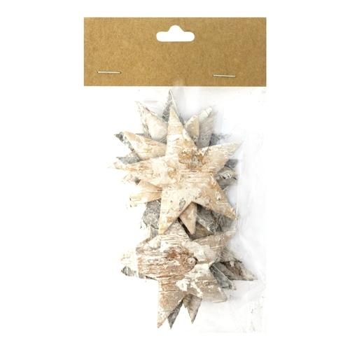 Декоративный элемент Dongjiang Art Звезда, цвет: белый, 12 шт декоративный элемент dongjiang art срез ветки цвет натуральное дерево толщина 7 мм 250 г 7708980
