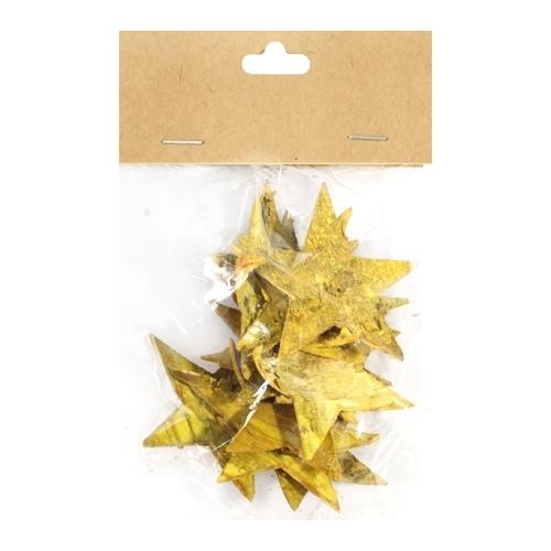Декоративный элемент Dongjiang Art Звезда, цвет: желтый, 12 шт7709007_желтыйДекоративный элемент Dongjiang Art Звезда, изготовленный из натуральной коры дерева, предназначен дляукрашения цветочных композиций. Изделие выполнено в виде звезды, которое можно также использовать втехнике скрапбукинг и многом другом.Флористика - вид декоративно-прикладного искусства, который использует живые, засушенные иликонсервированные природные материалы для создания флористических работ. Это целый мир, в котором естьместо и строгому математическому расчету, и вдохновению.Размер одного элемента: 6,5 см х 5,5 см.