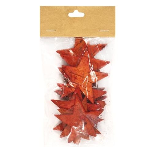 Декоративный элемент Dongjiang Art Звезда, цвет: красный, 12 шт7709007_красныйДекоративный элемент Dongjiang Art Звезда, изготовленный из натуральной коры дерева, предназначен дляукрашения цветочных композиций. Изделие выполнено в виде звезды, которое можно также использовать втехнике скрапбукинг и многом другом.Флористика - вид декоративно-прикладного искусства, который использует живые, засушенные иликонсервированные природные материалы для создания флористических работ. Это целый мир, в котором естьместо и строгому математическому расчету, и вдохновению.Размер одного элемента: 6,5 см х 5,5 см.