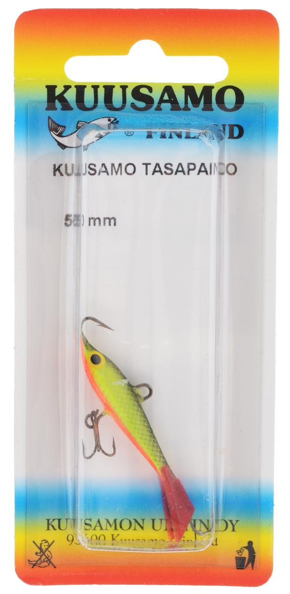 Балансир Kuusamo Tasapaino, с тройником, цвет: черный, желтый, красный, 5 см54033Kuusamo Tasapaino - это классический балансир, проверенный временем. Традиционно высокое качество изготовления гарантирует улов. Балансир Kuusamo Tasapaino отлично подойдет для ловли окуня, судака, берша и щуки. Изделие комплектуется одинарными крючками и подвесным тройником.