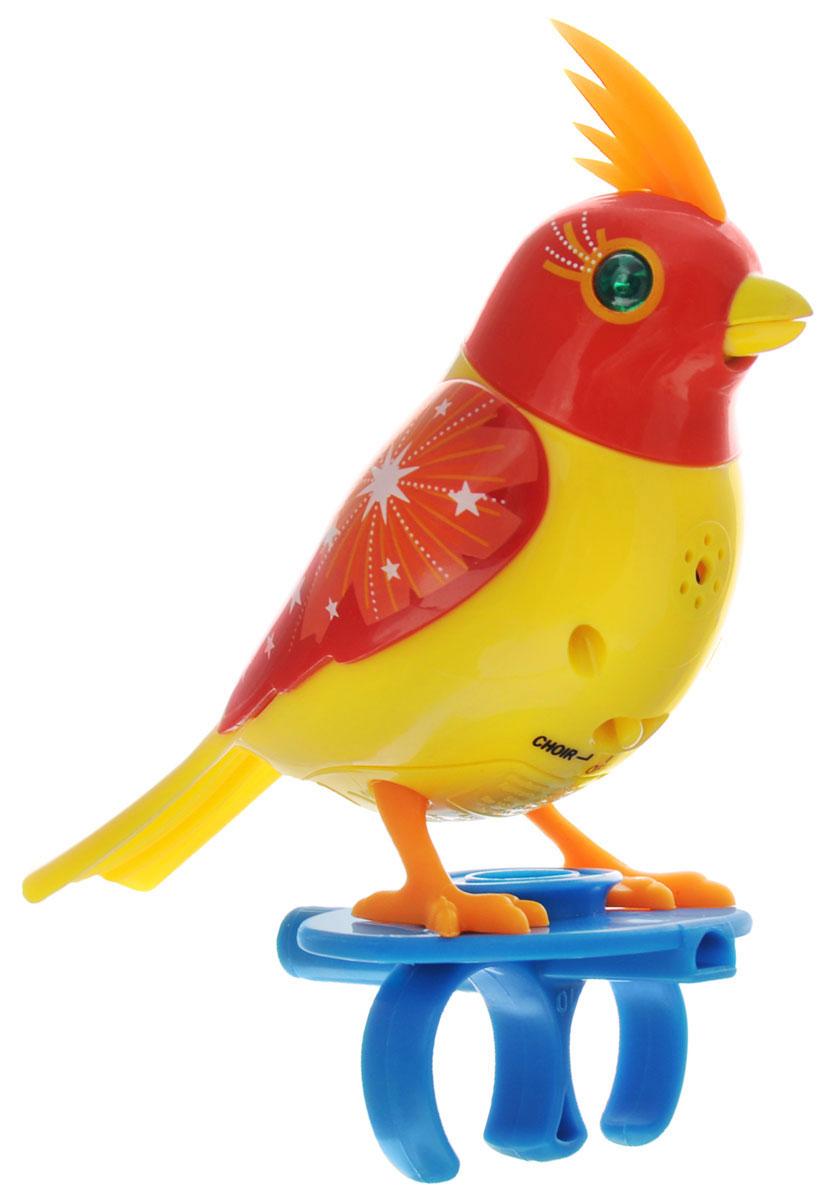 DigiBirds Интерактивная игрушка Птичка цвет красный желтый silverlit digibirds пингвин фигурист с кольцом серый