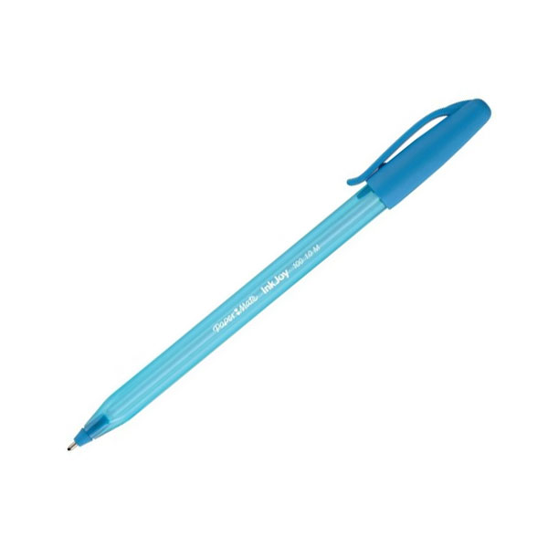 Ручка шариковая INKJOY 100, с колпачком,голубая, пластик тонир., корпус в цвет чернил, 1ммPM-S0977340Особенности: Треугольный корпусТонированный корпус в цвет чернил