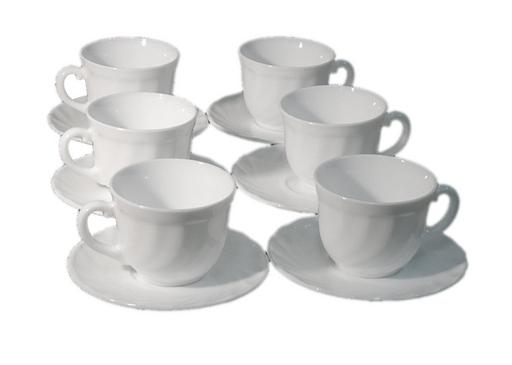 Набор кофейный Luminarc Trianon, цвет: белый, 12 предметов салатник luminarc trianon  диаметр 12 см