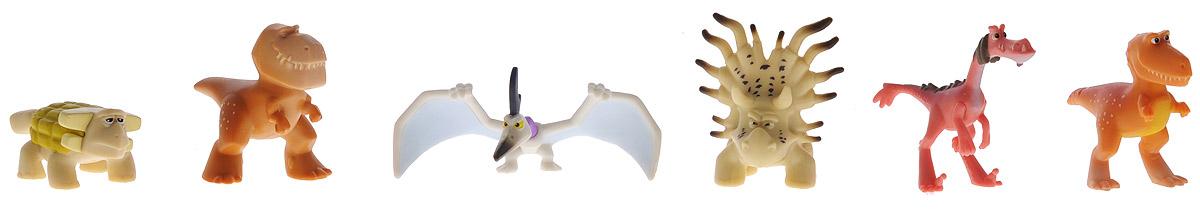 Хороший динозавр Набор мини-фигурок Анкилозавр, Раптор, Бур, Рамзи, Аконтофиопс, Птеродактиль набор фигурок good dinosaur анкилозавр раптор бутч ремси аконтофиопс птеродактиль 62309