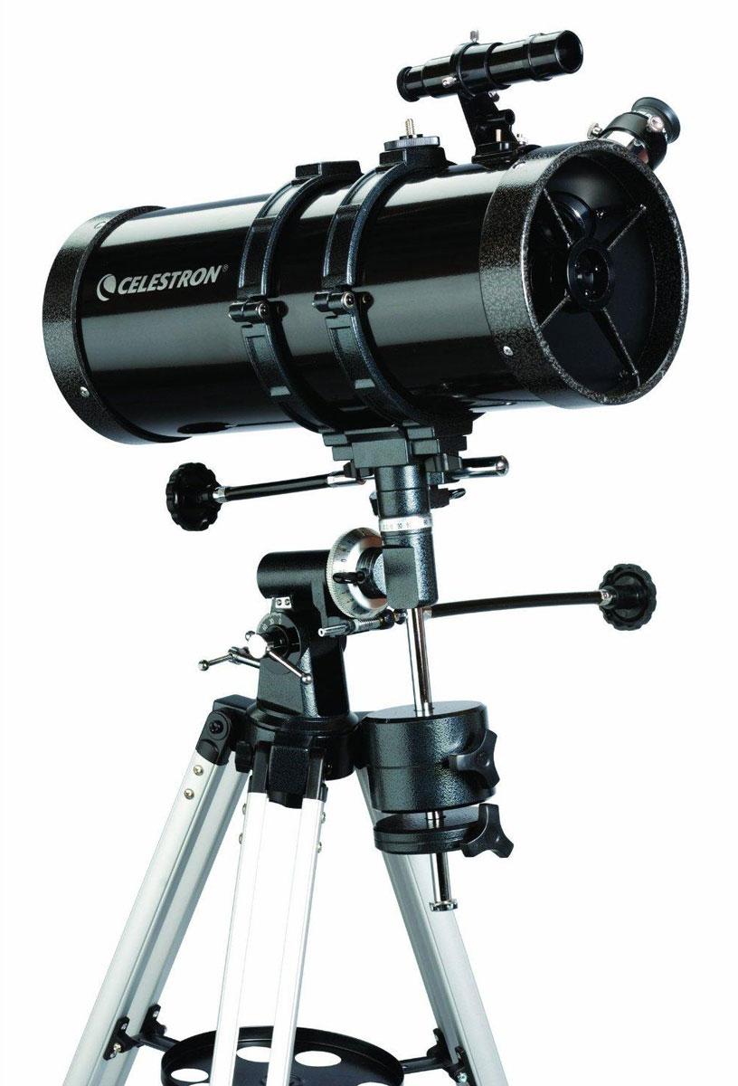 Celestron PowerSeeker 127 EQ телескоп-рефлектор НьютонаC21049Телескоп Celestron PowerSeeker 127 EQ обладает необходимым для начинающего наблюдателя набором базовых функций и предлагается по минимальной цене. Теперь, с помощью телескопа серии PowerSeeker Вы сможете познакомить своего ребенка со звездным небом, не тратя на оборудование астрономические суммы.Во всех инструментах серии используются только стеклянные объективы, имеющие большое преимущество перед пластиковыми линзами, используемыми в телескопах начального уровня некоторых других производителей. Для улучшения пропускания света на оптические элементы нанесено эффективное просветляющее покрытие.Угловое разрешение: 0,91Длина оптической трубы: 51 смЛинза Барлоу: 3х, 1,25 (увеличения 150х и 750х)Оптическая схема: рефлектор НьютонаПолностью просветленная стеклянная оптика (алюминиевое покрытие с SiO2)Экваториальная монтировка с механизмами тонких движений и координатными кругамиАлюминиевый штатив с полочкой для аксессуаровПрограмма-планетарий TheSky X с базой данных на 10 000 объектов и возможностью печати звездных карт