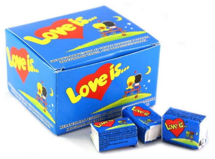 Love is Жевательная резинка, клубника-банан, 20 шт футболка liu jo jeans liu jo jeans li003ewgzu92
