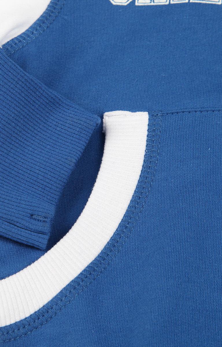 Спортивный костюм детский Lucky Child, цвет:  синий, белый.  8-4.  Размер 122/128, 7-8 лет Lucky Child