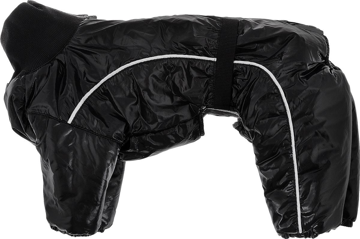 Комбинезон для собак Dogmoda Китайская хохлатая, зимний, для мальчика, цвет: черный, серый. Безразмерный комбинезон для собак dogmoda doggs зимний для девочки цвет фиолетовый размер xxl
