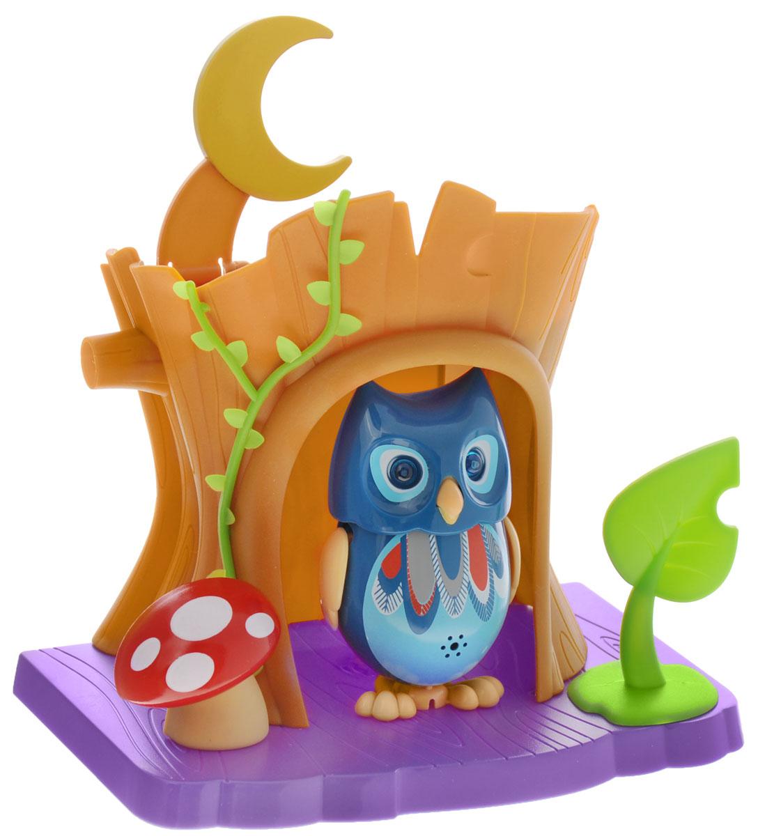 DigiOwls Интерактивный игровой набор Сова с домиком цвет синий - Интерактивные игрушки