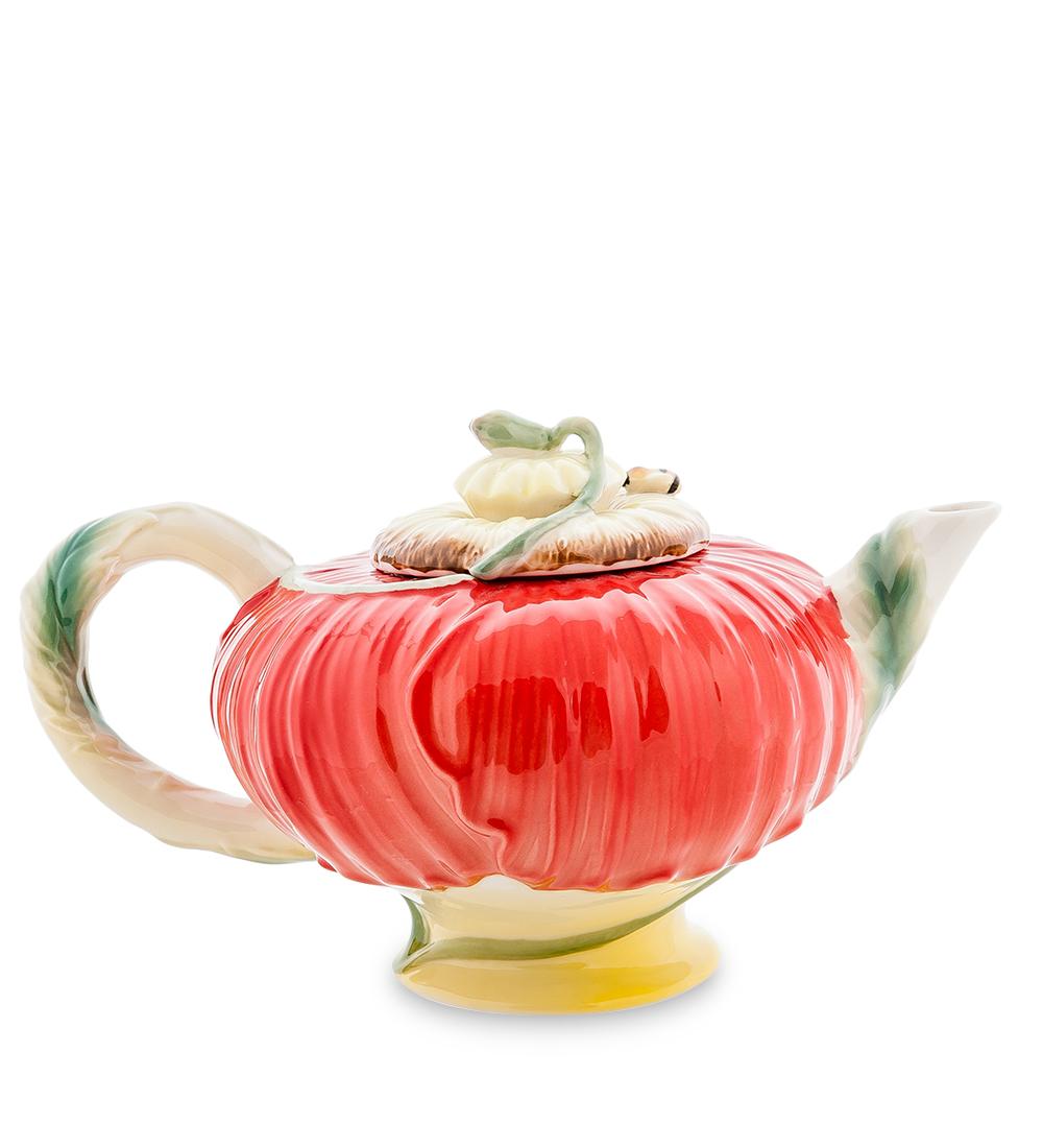 Чайник заварочный Pavone Маки, 600 мл103814Заварочный чайник Pavone Маки изготовлен из высококачественного фарфора. Оригинальное исполнение придает модели особый шарм, который понравится каждому. Чайник снабжен удобной ручкой, носиком и крышкой. Такой заварочный чайник красиво дополнит сервировку стола к чаепитию и станет полезным приобретением для любой хозяйки. Отличный подарок к любому случаю. Высота: 12 см.Объем чайника: 600 мл.