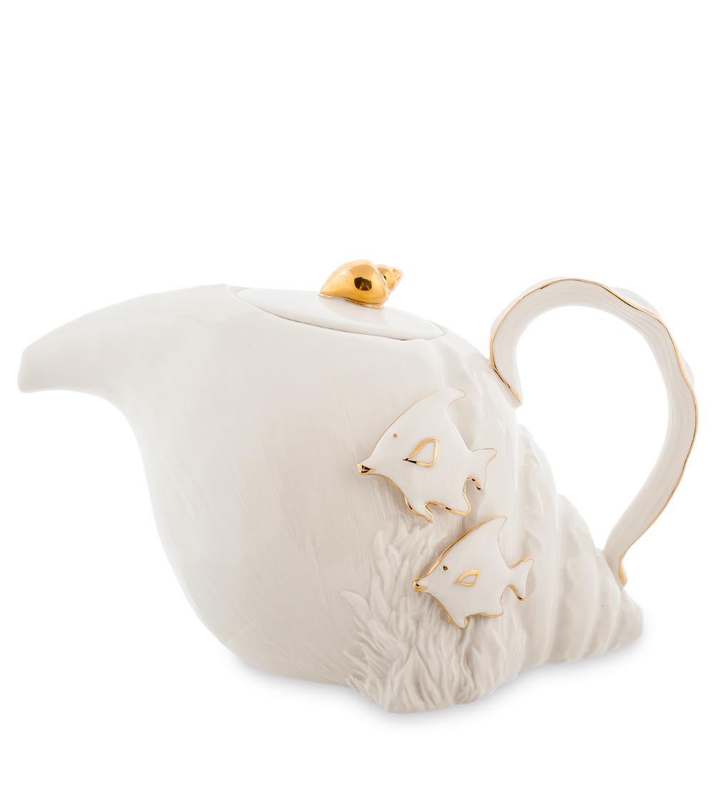 Чайник заварочный Pavone Морская ракушка, 820 мл10873Заварочный чайник Pavone Морская ракушка изготовлен из высококачественного фарфора. Оригинальное исполнение придает модели особый шарм, который понравится каждому. Чайник снабжен удобной ручкой, носиком и крышкой. Такой заварочный чайник красиво дополнит сервировку стола к чаепитию и станет полезным приобретением для любой хозяйки. Отличный подарок к любому случаю.Длина чайника: 23 см.Ширина: 12 см.Высота: 13 см.Объем чайника: 820 мл.