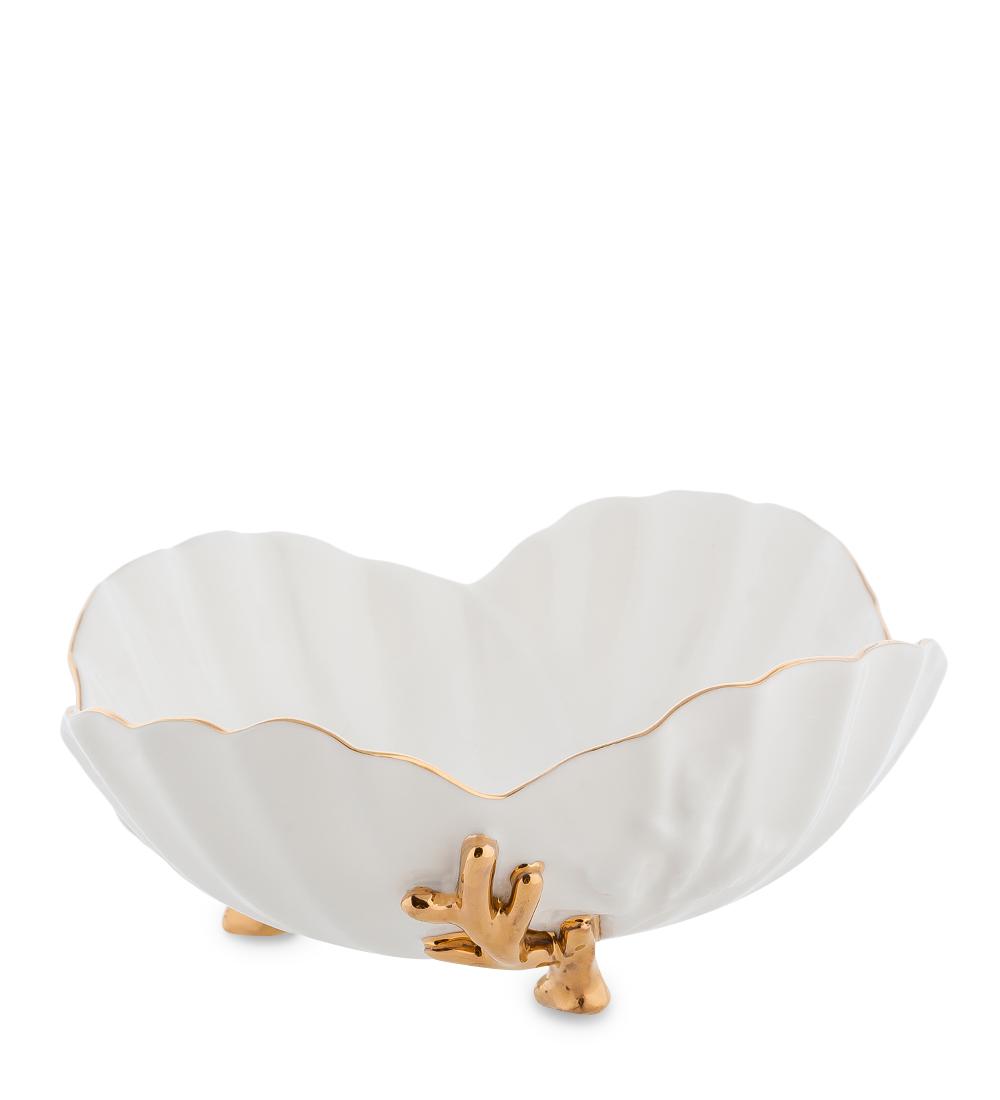 Пиала Pavone Морская ракушка, цвет: белый, золотистый, 200 мл10947Пиала Pavone Морская ракушка, выполненная из высококачественного фарфора, оснащена тремя элегантными ножками и декорирована золотистой каймой. Изделие предназначено для красивой сервировки стола. Пиала сочетает в себе оригинальный дизайн и функциональность. Она дополнит коллекцию кухонной посуды и будет служить долгие годы. Объем: 200 мл.Диаметр (по верхнему краю): 14,5 см.Высота пиалы: 6,5 см.
